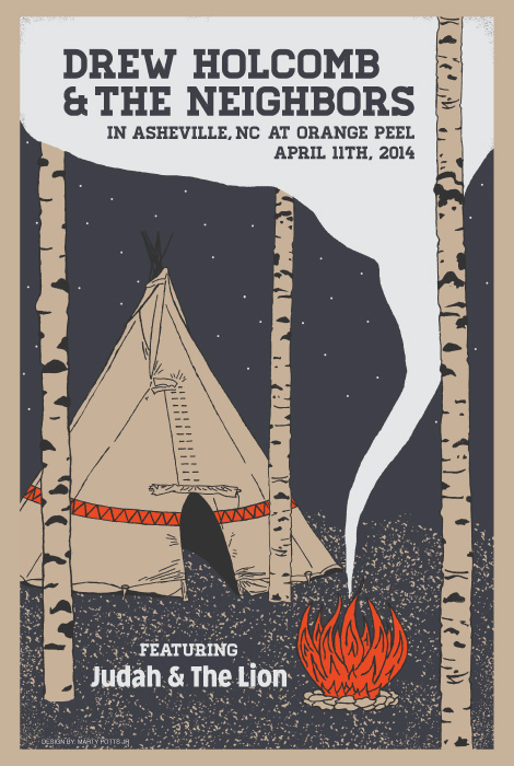 Drew Holcomb and The Neighbors Asheville Poster
